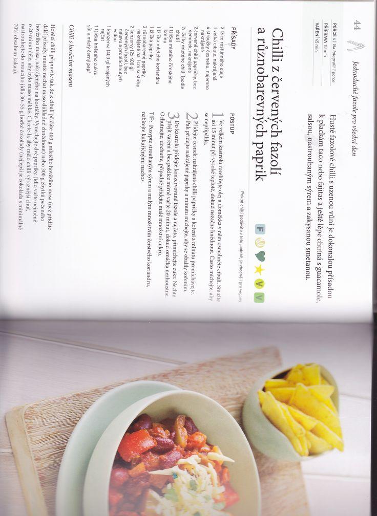 Chilli z červených fazolek a barevných paprik