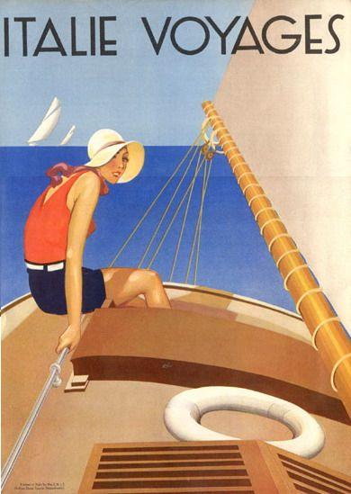"""Italie Voyages"" Ente Nazionale Industrie Turistische E.N.I.T. 1935"