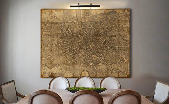 Paris Map Print Turgot's 1739 Plan de Paris Decoupage