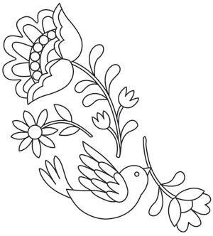 Stitch this lovely Mexican folk art inspired design individually, or combine with other Las Flores designs on apparel, home decor projects, and more! Downloads as a PDF. Use pattern transfer paper to trace design for hand-stitching.