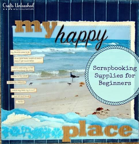 my happy place LO.  Scrapbooking 101: Scrapbooking Supplies for Starters