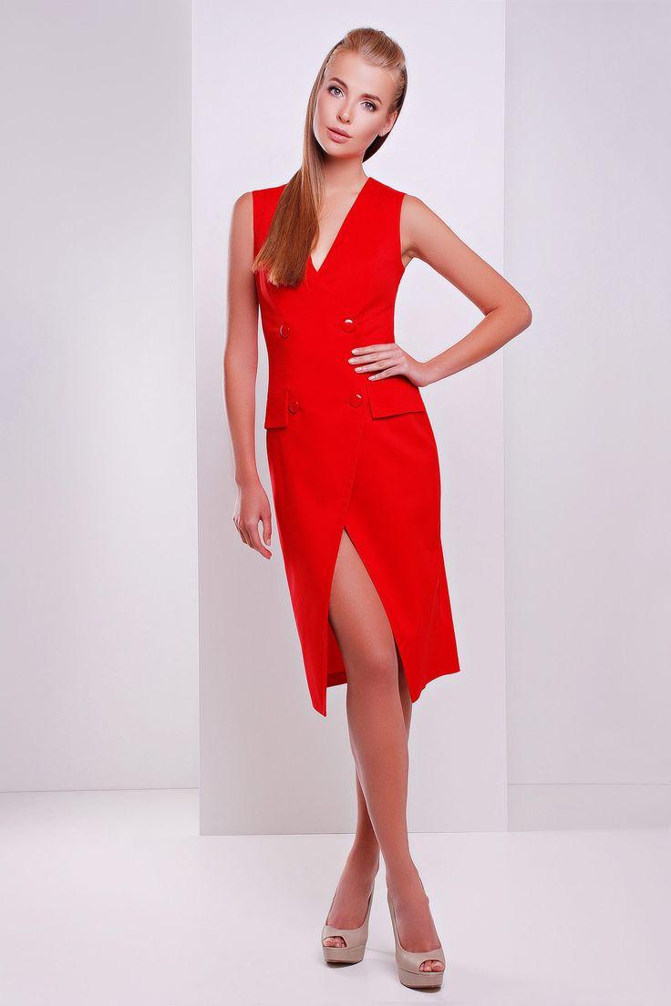 Красное строгое платье без рукавов - Одежда и обувь - GOTTO.ORG - Торговый Онлайн Центр