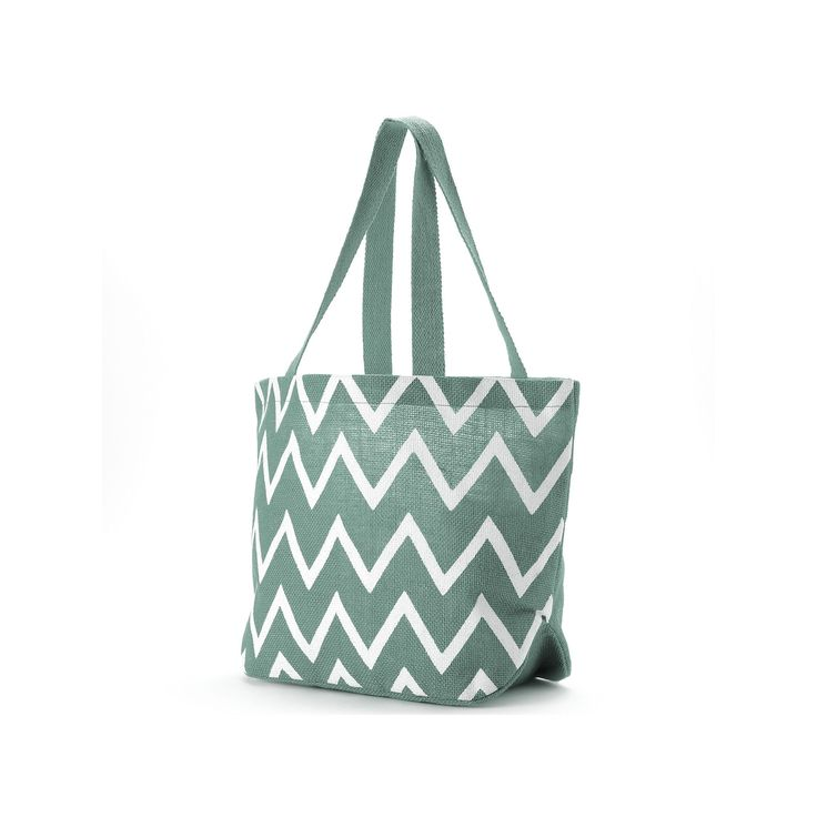 Jute Bags Viola Chevron Jute Shopper, Blue