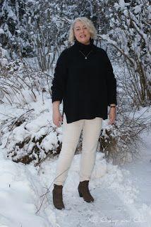 XL Cheap & Chic: Musta neule ja valkoiset farkut lauantailinkin ker...