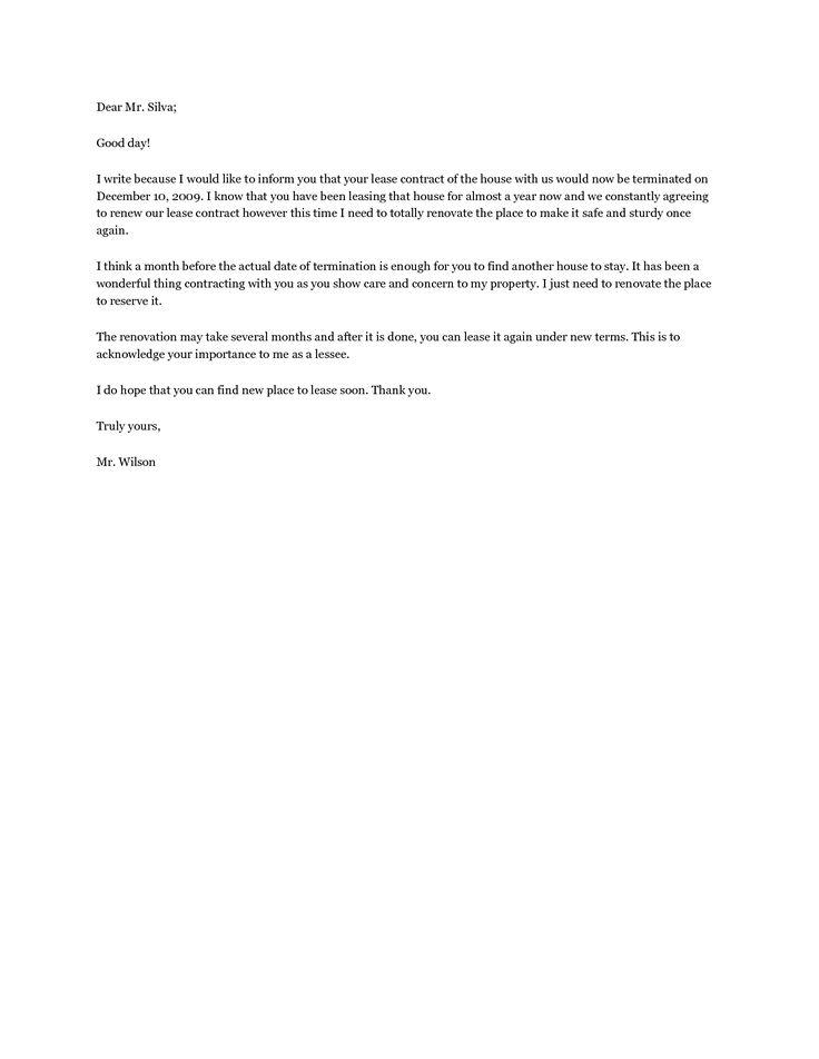 lease termination letters agreement letter sample template