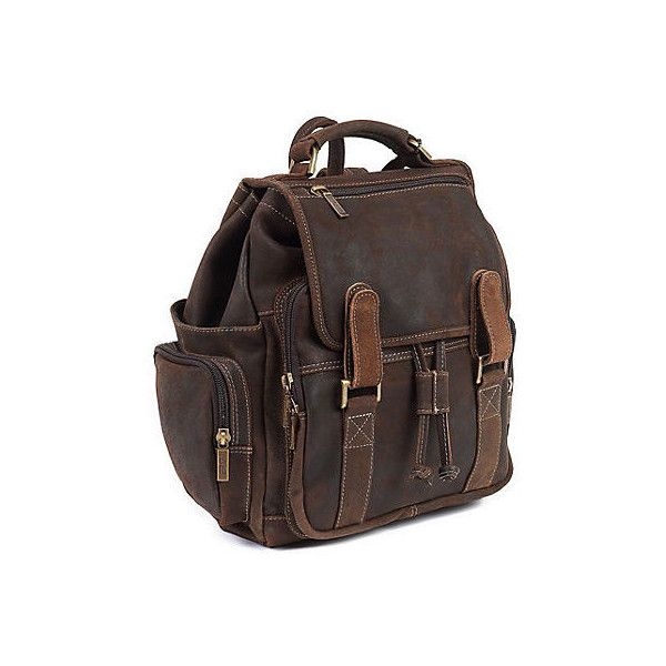 Leather Backpack Distressed Brown Backpacks (€195) ❤ liked on Polyvore featuring bags, backpacks, distressed brown, leather laptop backpack, travel daypack, laptop backpacks, leather laptop bag and backpack travel bag