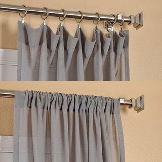 Panel de cortina, lino sintético transparente, níquel | Overstock.com Shopping - The Best Deals on Sheer Curtains