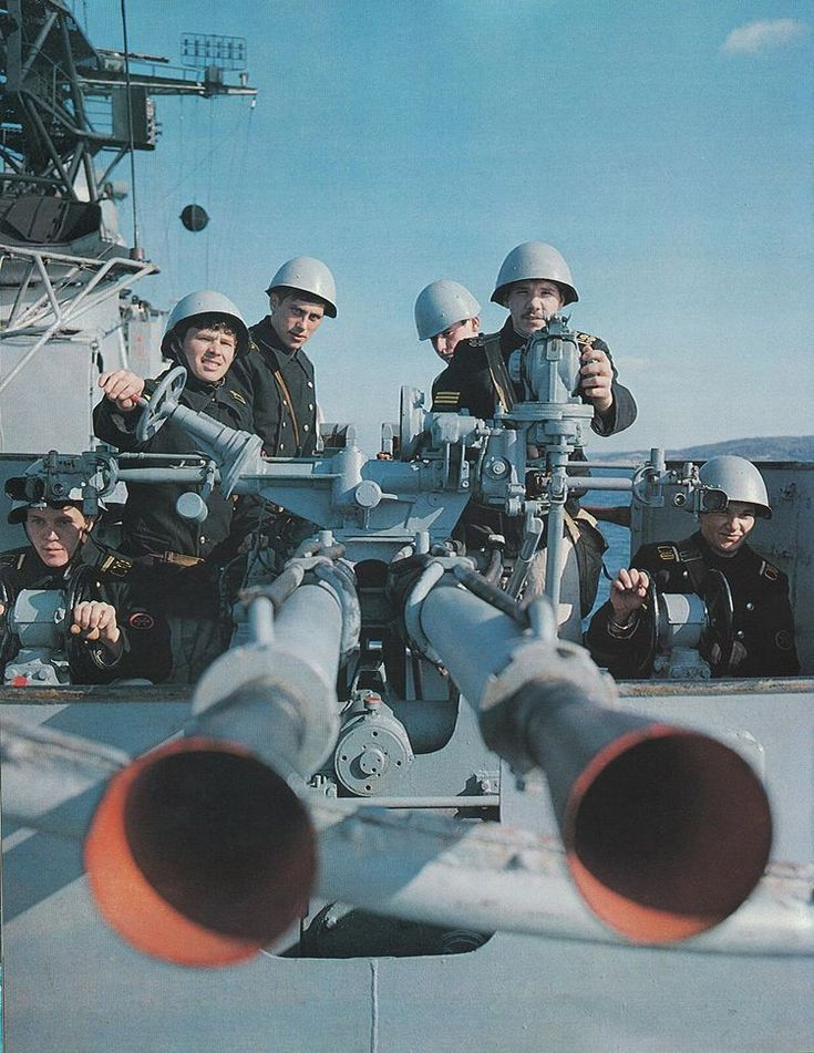 V-11 37-mm anti-aircraft gun of the Soviet Navy.