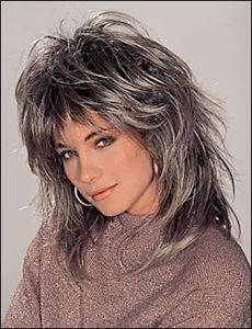 OK, so I'm NOT that GRAY yet!...  But it is time for a change....  ;)  Only difference is that my hair is naturally wavy, so it may not work???  Hmmm....  Funny how ALL styles always look the same on me!  LOL!
