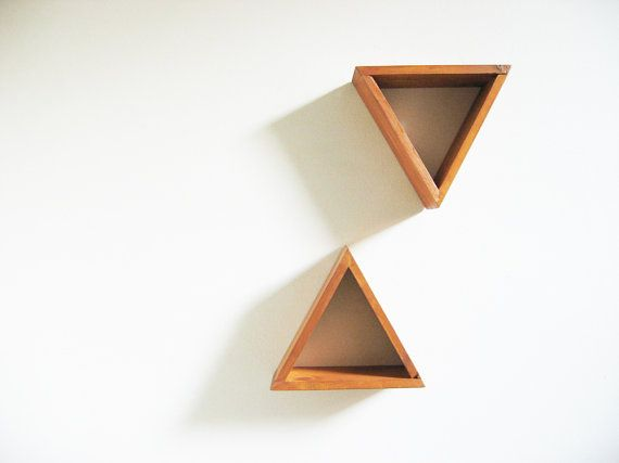 Triangle wall shelves junglai triangles pinterest - Triangular bookshelf ...