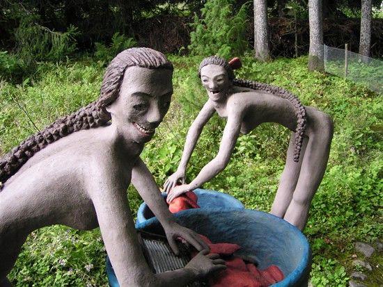 Parikkala, Finland. The Sculpture Park of Veijo Rönkkönen.