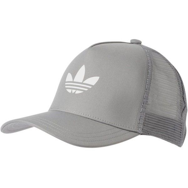 adidas Originals Caps light grey ? liked on Polyvore featuring accessories,  hats, adidas originals