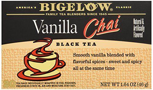 Bigelow Vanilla Chai Tea Bags, 20 ct Bigelow Tea http://www.amazon.com/dp/B0034KULNY/ref=cm_sw_r_pi_dp_DFgnvb10AM7WN