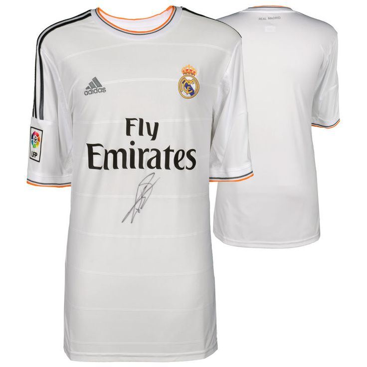 Gareth Bale Real Madrid Autographed 2013-2014 White Adidas Front-Signed Jersey - ICONS