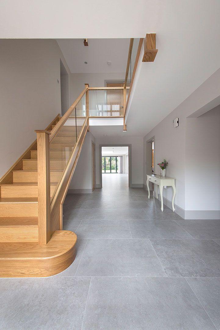 Wood Effect Porcelain Floor Tiles >> English Grey Porcelain Stone Tiles   Porcelain Tiles in 2019   Tiled hallway, Grey kitchen tiles ...
