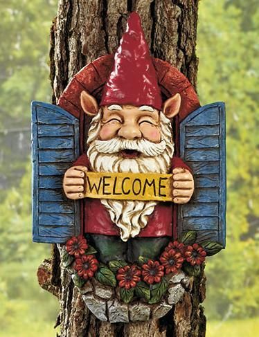 Gnome Tree Decor Welcome