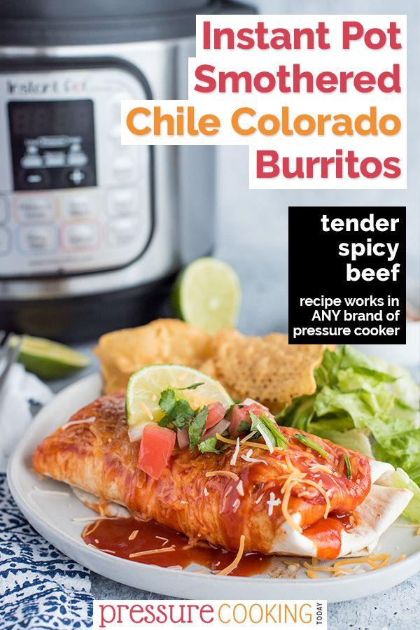 Easy Instant Pot Chili Colorado Smothered Burritos Recipe Instant Pot Pressure Cooker Instant Cooker Smothered Burritos