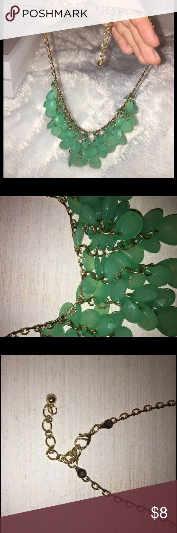 Mint Green Statement Necklace, Adjustable, NWOT Never worn! Bought it and decided I had too many necklaces already. Mint green jewels. Adjustable chain length. Perfect for spring and summer. :) Charlotte Russe Jewelry Necklaces