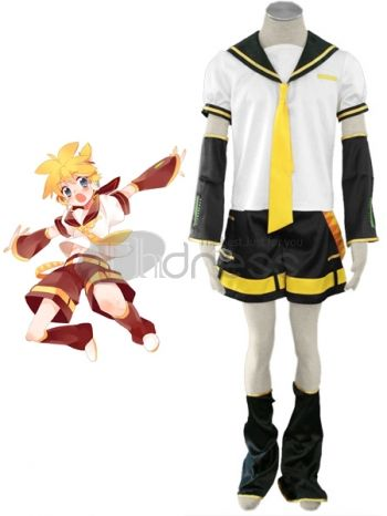 This costume can be used for a unforgettable evening on school parties, if you're feeling especially fun and flirty. Usually the boys' costumes give ethereal appearance and you will feel stunning and gorgeous when wearing this costume. The actor Lin is a boy but as lovely as a girl who is the republication of Rin.