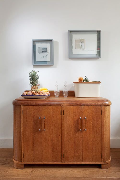 This beautiful Art Deco side chest is in the drawing room of my dream house with a cocktail set on the top of it!