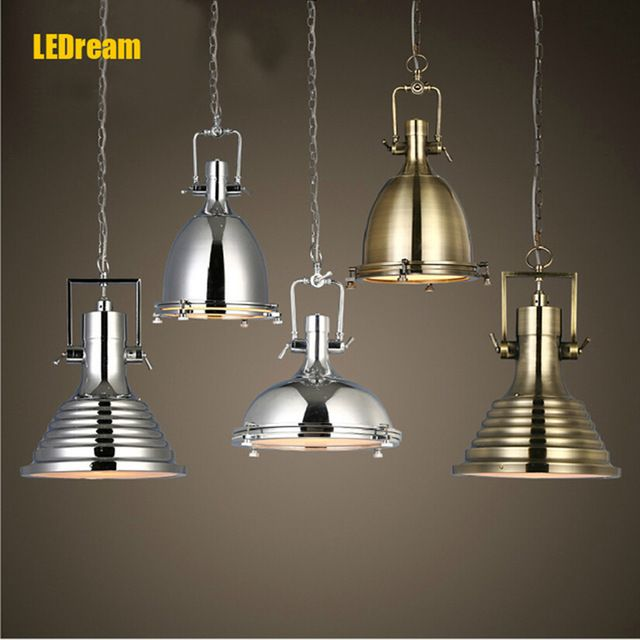 Loft industrial dinning room vintage pendant lights retro creative cafe bar lamp industrial mining luminaire suspendu