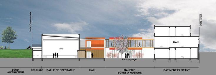 Tekhnê Architectes | Création d'une salle polyvalente musiques actuelles et spectacle vivant