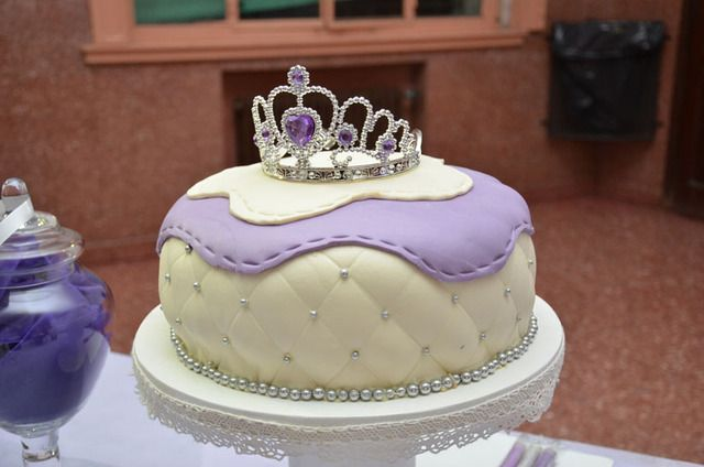 Lovely cake at a purple princess girl birthday party!  See more party ideas at CatchMyParty.com!