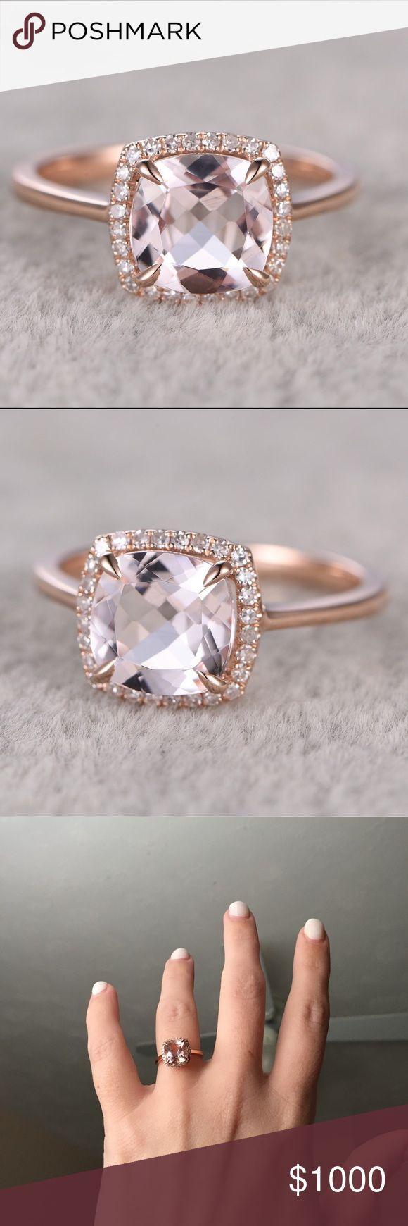 Price Firm 14k Rose Gold Morganite Ring Rose Gold Morganite Ringconflict  Free Diamondsdiamond