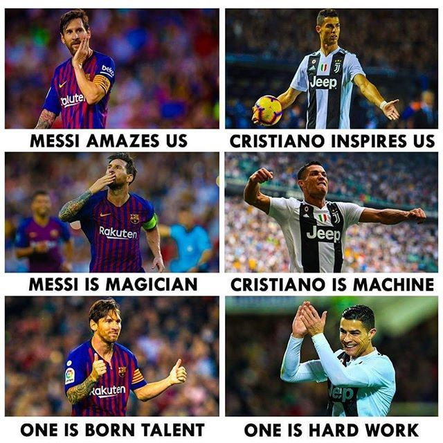Legends Soccer Funny Football Memes Messi Vs Ronaldo