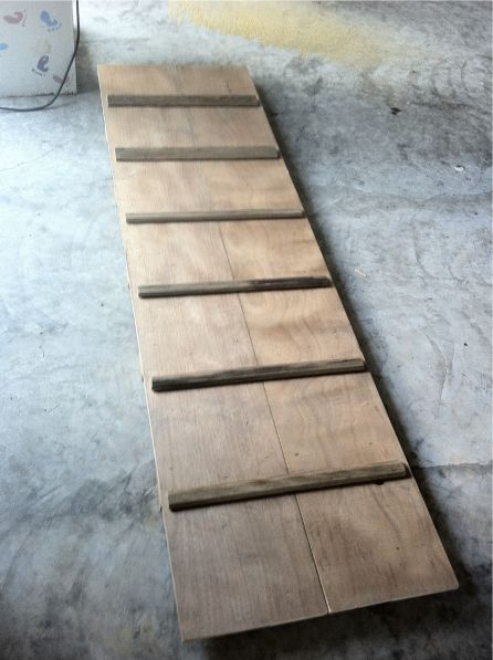 Dog ramp over stairs