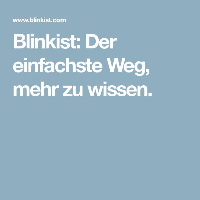 Blinkist: Der einfachste Weg, mehr zu wissen.