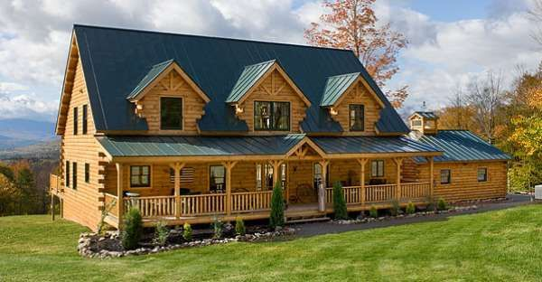 Here is What a $180k Log Cabin Kit Looks Like, Stunning! Click for More Photos #LogCabinFurniture
