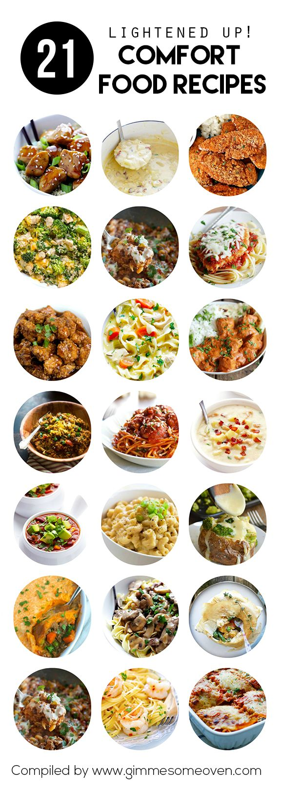21 Lightened-Up Comfort Food Recipes - a delicious collection from food bloggers | gimmesomeoven.com