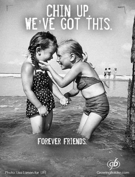 Friends go thru hard stuff. But if you can come together and overcome it, you'll be stronger because of it.