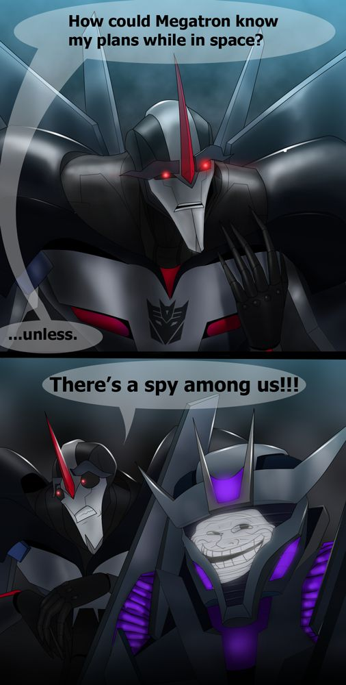 Transformers Prime: Spy by RoboticMasterMind on deviantART lol i can see this happening.