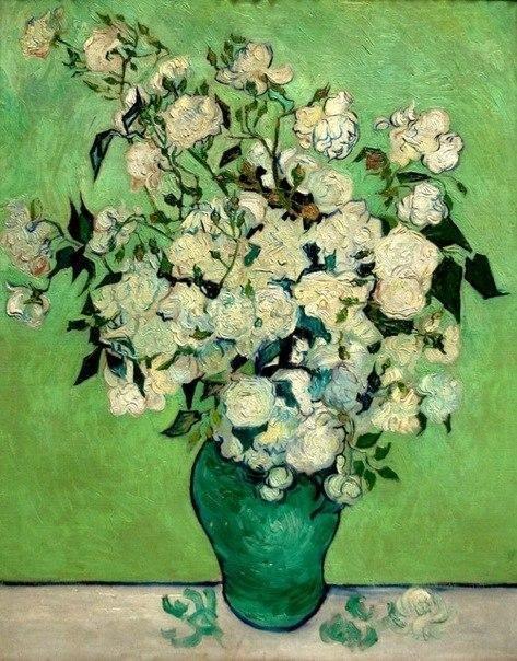 """Воображение — это начало создания. Вы воображаете то, что хотите; вы желаете то, что воображаете; и, наконец, вы создаете то, что желаете. (c)Джордж Бернард Шоу Vincent van Gogh  и другиеавторы в интернет-магазине Худсовет. """"Roses"""" 1890 #art #painting #живопись #художник #идеяподарка #чтоподарить #худсовет #продажакартин #купитькартину #рисование #арт #москва #друзья #красота #гдекупитькартину #холст #подарокдругу #девушка #луна #символизм #подарок #подарок2017 #подароксебе…"""
