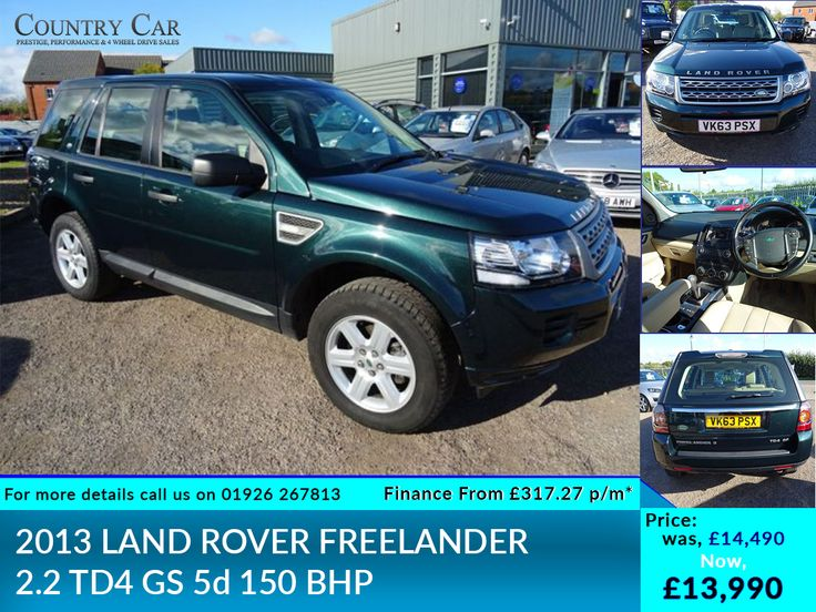 £13,990 | 2013 63 LAND ROVER FREELANDER 2.2 TD4 GS 5D 150 BHP.  Finance From £317.27 p/m* Call Us: 07441 906677 - countrycar.co.uk              #landrover #rangerover #rangeroverevoque #rangerovergoals #landroverdiscovery #cars #LandroverFreelander #dealership #deals #customerservice #porsche #carsales #countrycar