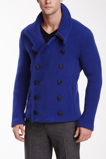 Double Breasted Knit Wool Jacket by Giorgio Armani Uomo on @HauteLook