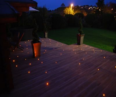 1.5mm optical fibres were used in this deck lighting scheme.
