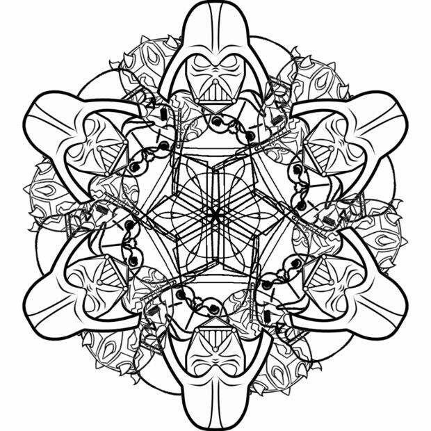 Easy Star Wars Snowflakes And Mandalas To Print Color