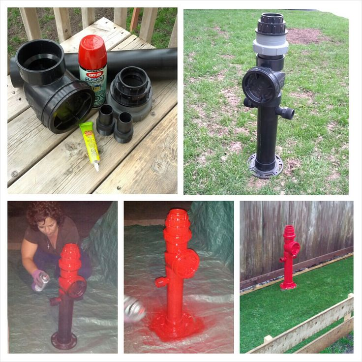 Make You Own Dog Fire Hydrant. With Pluming Pipe, Glue And
