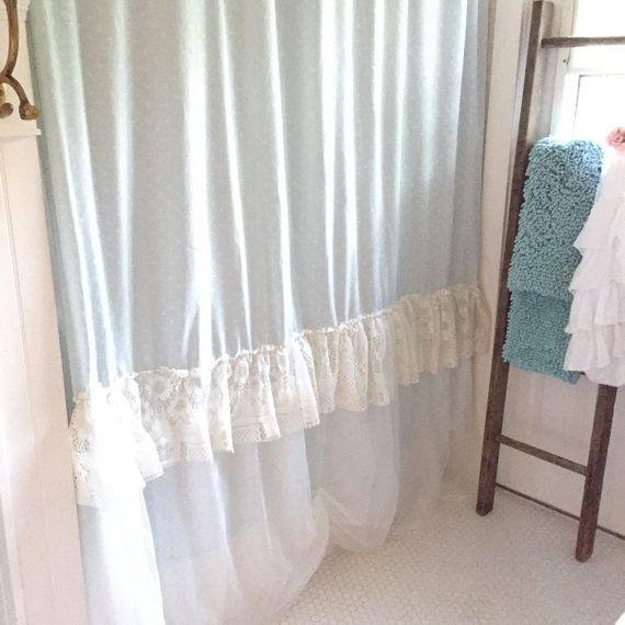Lace Ruffle Shower Curtain