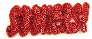 "SOONERS USA Football Programs Red Sequins and Beads 2"" x 5"""