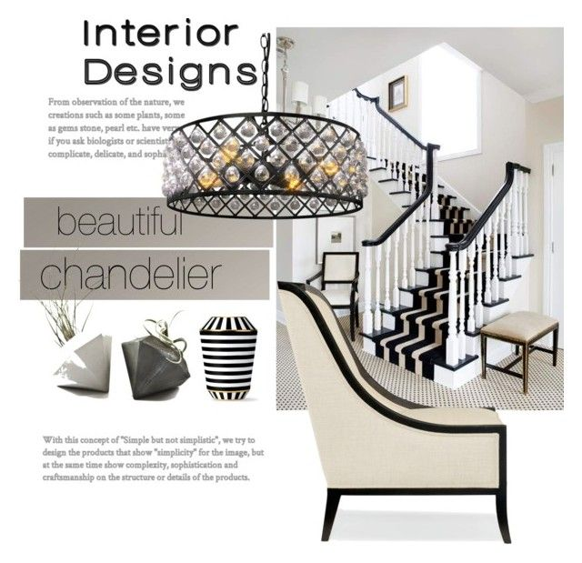 """""""Beautiful  chandelier"""" by rpsounos ❤ liked on Polyvore featuring interior, interiors, interior design, home, home decor, interior decorating, Fürstenberg and Tempaper"""