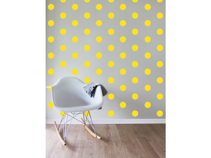 Speckled House Sunny Spots Decal - $42.95 - Yellow Sunny Spots Wall Decal by Speckled House!  Add some gorgeous, vibrant colour and magic to your any room of the house with this stylish yellow dots removable wall sticker set!  #littlebooteek #kids #baby #nursery #bedroom #decor #speckledhouse