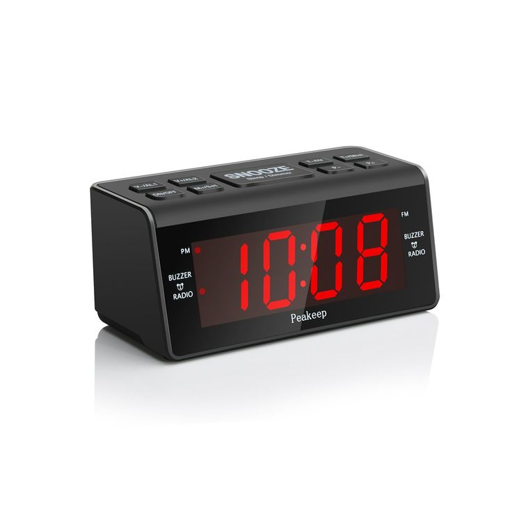 Peakeep Little Digital FM Radio Dual Alarm Clock with Snooze and Sleep Timer, Large Display with 2 Dimmer * Click image to review more details. (This is an affiliate link and I receive a commission for the sales)