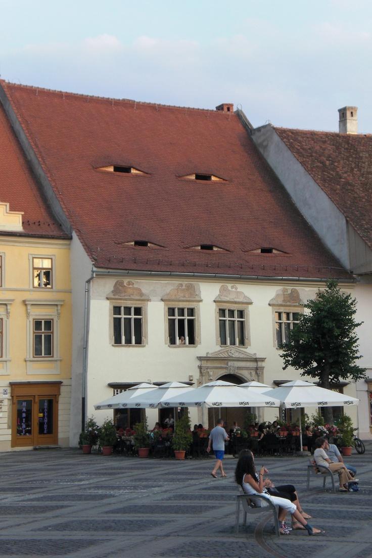 Die Augen von Sibiu, Hermannstad,  Transilvania, Romania