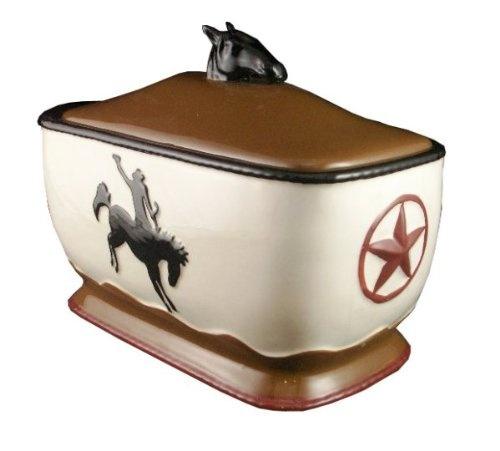 Bread Box, Toast Jar Western Cowboy Decor $34.95
