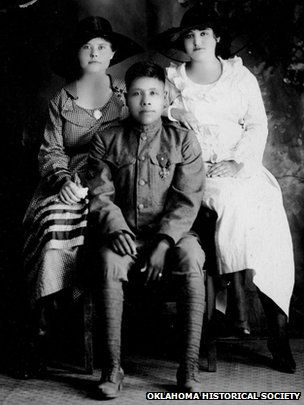 Choctaw code talker Joseph Oklahombi with family-Nationwide, American Indians didn't get US citizenship until 1924, years after WW1 had finished, yet more than 12,000 fought, according to the National Museum of the American Indian. They volunteered to fight because defending their land and people was part of their culture and tradition.