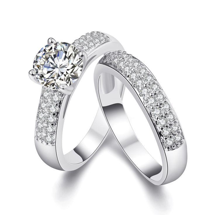 Elegant Popular Zirconia Double Layer Ring